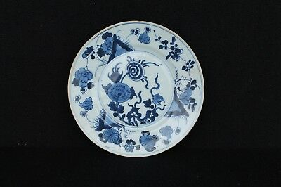 Kangxi plate with flowers Chinese export