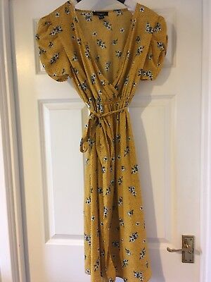 new look maternity dress size 12 yellow floral