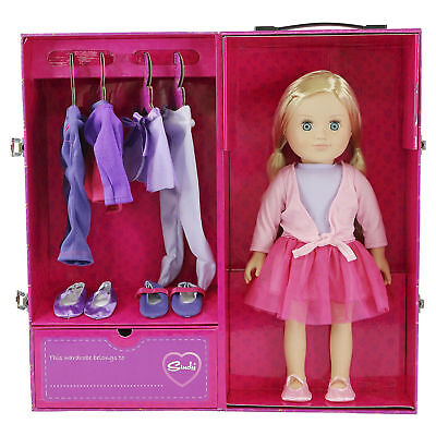 """18"""" Tall Sindy Doll With Dancer Wardrobe Closet & Outfits Playset Toy Bundle"""