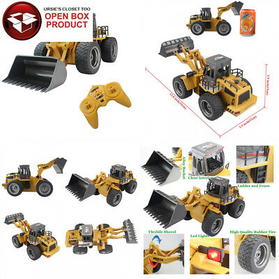 Fistone RC Truck Alloy Shovel Loader Tractor 2.4G Radio Control 4 Wheel...