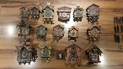 Lovely old vintage Cuckoo Clocks and parts for spares & repairs. Job lot.