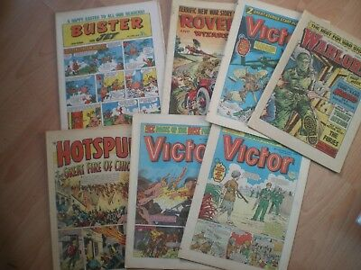 Collection Of Comics Including Victor, Warlord, Buster, Hotspur