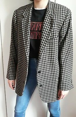 Giacca Donna Armani Vintage Anni 80 tg46 originale slim fit made in italy lana
