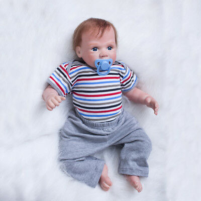 50cm Lifelike Lovely Silicone Vinyl Reborn Baby Dolls Newborn Boy Toddler Gift