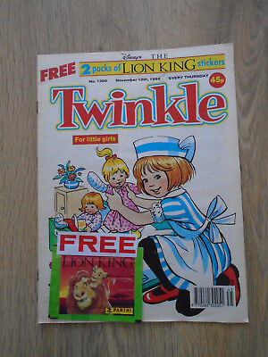 Twinkle Comic # 1399 Nov 12th 1994 & Free Gift of 2 packs of Lion King Stickers!