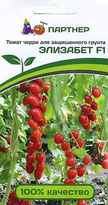 "TOMATO CHERRY ""ELIZABETH F1"" Russian High Quality seeds.non-GMOs"
