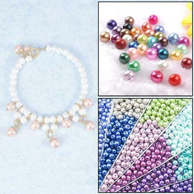 Wholesale Lots Bulk 100pcs Multi-color Round Pearl Imitation Glass ·Bead ·6-10mm