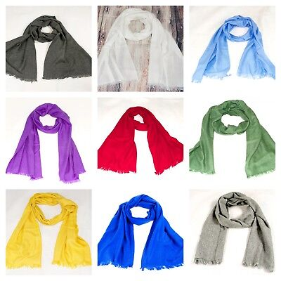 Mens Ladies Cashmere Scarf Pashmina Muffler Wrap Snood Soft Light Ideal Gift