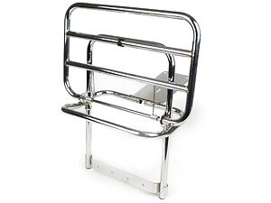 Vespa PX LML (2T) T5 Classic High Quality Chrome Rear Fold Down Luggage Carrier