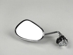 Vespa Clamp On Legshield Mirror - Chrome Back Stainless Stem - Right Hand