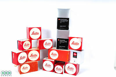 Lot of Leica R Boxes New and Vintage
