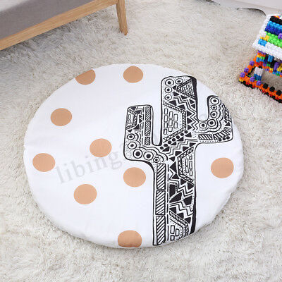 Soft Cotton Baby Kids Play Mat Floor Rug Game Gym Activity Crawling Blanket US