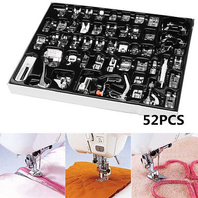 52pcs Sewing Machine Foot Presser Feet Tool for Brother Singer Janome Domestic