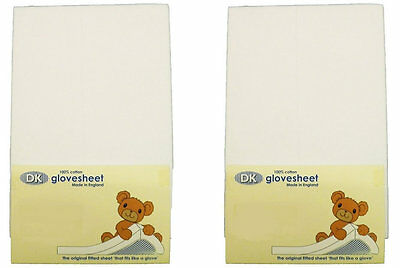 New DK glovesheet 2 pack white space saver cot mattress fitted sheet 100x52cm