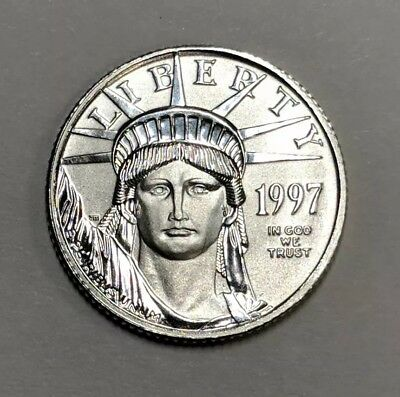 1997 1/10 oz Platinum American Eagle $10 Coin Brilliant Uncirculated 1st Year