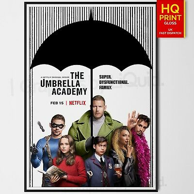 The Umbrella Academy TV Series Poster Jeremy Slater Fantasy/Action | A4 A3 A2 A1