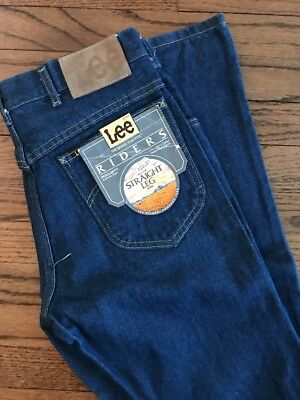 VTG LEE RIDERS STRAIGHT REGULAR FIT JEANS 33x36 NOS NWT Deadstock 80s