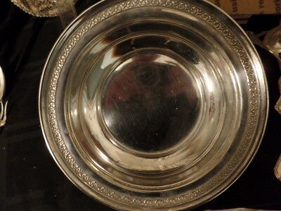 """Dominick & Haff Sterling Silver 10"""" Deep Bowl Floral Edge 11.37 Toz."""