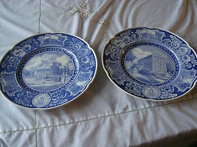 Lot Of Two Columbia University Plates