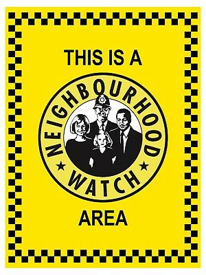 Neighbourhood watch area sign