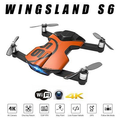 Newest Version WINGSLAND S6 Pocket WiFi RC Drone Quacopter With 4K HD Camera