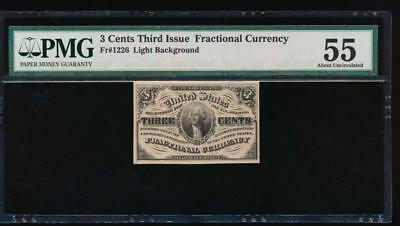 AC Fr 1226 $0.03 fractional Third Issue PMG 55 comment Light Background
