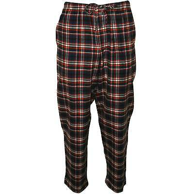 Jockey Brushed Flannel Men's Lounge Pants, Red/Navy Tartan