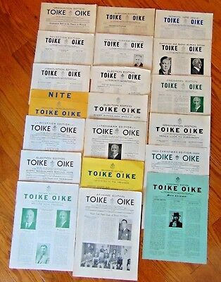 Vintage Lot Of 22 Newsletters 1933 To 1938 University Of Toronto Engineers