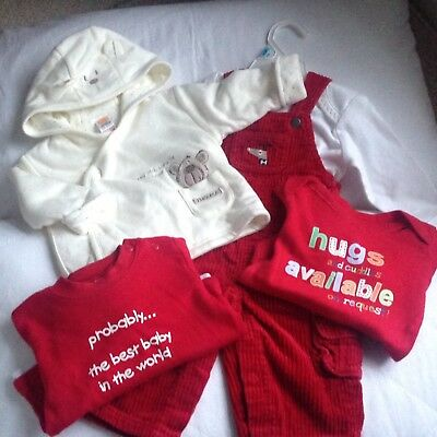 Large Bundle Of Baby Boy Clothes Perfect For Winter And Christmas Age 0-3 Months
