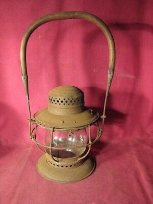 Antique 1906 T. L. Moore San Antonio Texas Railroad Lantern