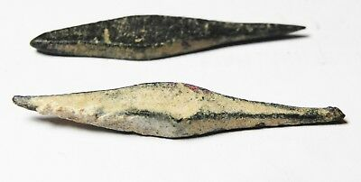Zurqieh - As9932- Ancient Holy Land. Two Iron Age Or Earlier Bronze Arrow Heads