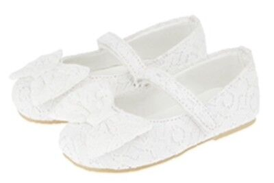 Monsoon baby girl shoes, size UK 2, Euro 18, white