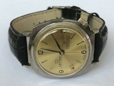 Vintage Gents Lectro 121 Mechanical wind Up Working Mens Swiss Made Wrist Watch