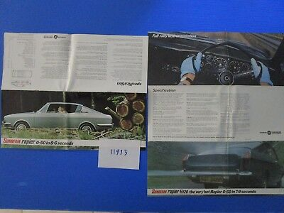 N°11993 / grand catalogue SUNBEAM Rapier english text 1970-1971
