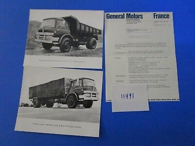 N°11991 / camion BEDFORD informations et 2 photos septembre 1966
