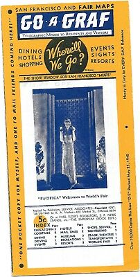 1939-40 Ggie World's Fair Go-A-Graf  Pamphlet 12 Page Foldover