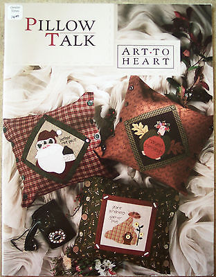Art to Heart Pillow Talk Quilting Pattern Book Nancy Halvorson #508B holidays