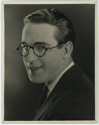 Iconic Silent Film Comedian Harold Lloyd 1920s Vintage Large Format Photograph
