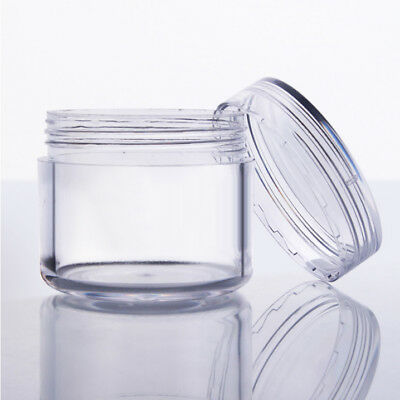 10Pcs 5g Empty Clear Plastic Cream Jars Concave Caps for Powder Shadow Cosmetic