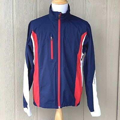Galvin Green Aron Gore-Tex Light Weight Sample Jacket Red White Blue No Size Tag