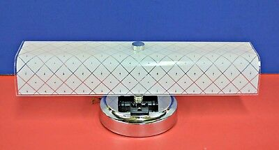 """1965 NEW VINTAGE BATH Wall 2-Light Fixture CONVENIENCE OUTLET 14"""" U-Shade 3914"""