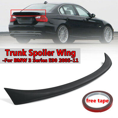 For Bmw 3 Series E90 05-11 Rear Trunk Boot Lip Lid Spoiler M Sport Unpaint Black