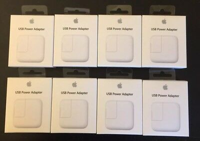 Lot Of 8 NEW Original OEM Apple 12W Charger MD836LL/A for iPad,iphone