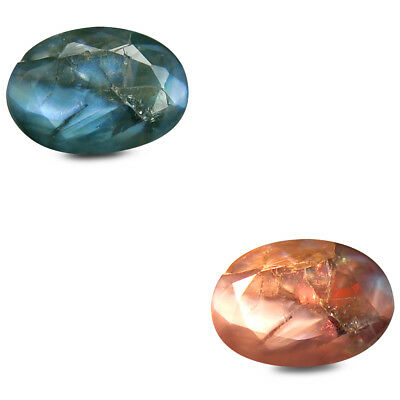 0.86 ct Remarkable Oval (7x5mm) Unheated Color Change Alexandrite Loose Gemstone