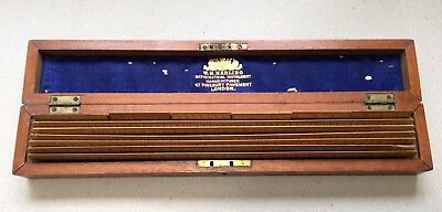 W.h. Harling London Vintage Boxed Set Of Drafting Scale Rules