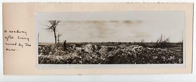 WW1 YPRES BELGIUM MENIN ROAD DESTROYED BY MINES  OFFICIAL PHOTO c1914