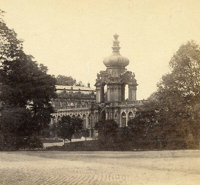 """Zwinger Palace """"kennel"""" Dresden Germany Stereoview  Crown Gate"""