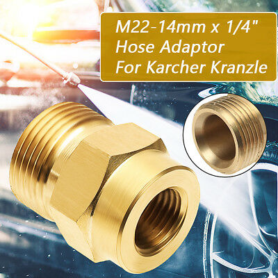 "Pressure Washer M22 14mm x 1/4"" Female Connection Coupling Adapter For Karcher"