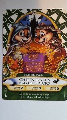 Sorcerers of the Magic Kingdom Chip and Dale Halloween Party Card MNSSHP Disney