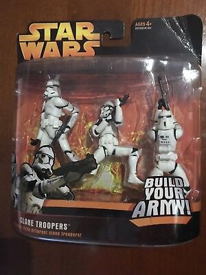 Star Wars Episode 3 Hasbro Clone Troopers Deluxe Set Build Your Army